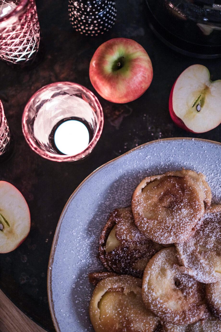 Gebackene Apfelringe mit Zimtzucker und Kaffeepause auf Knopfdruck... Krups Grind Aroma Kaffeemaschine