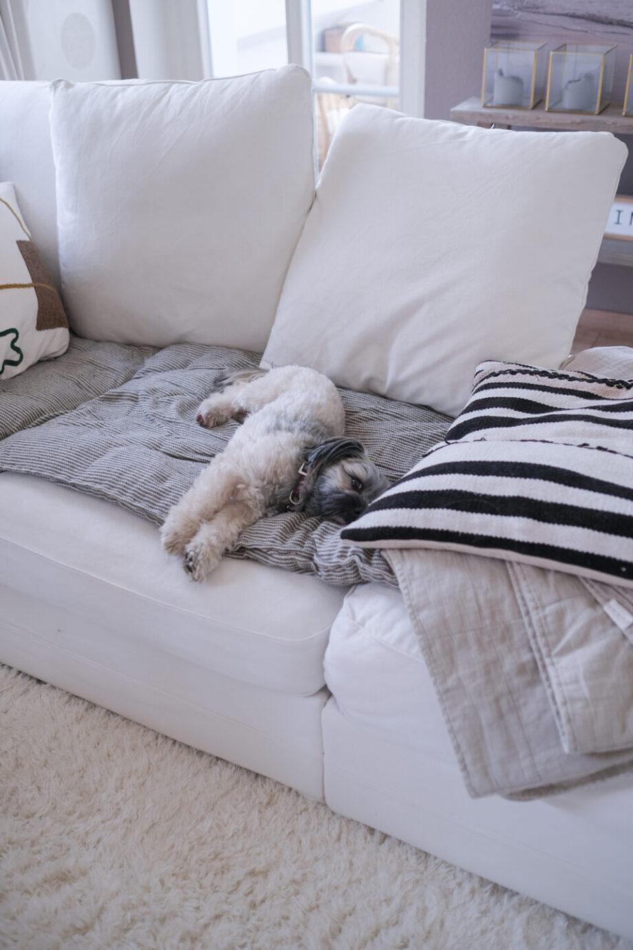 Sofaglück: Meine Tipps für ein weißes Sofa!
